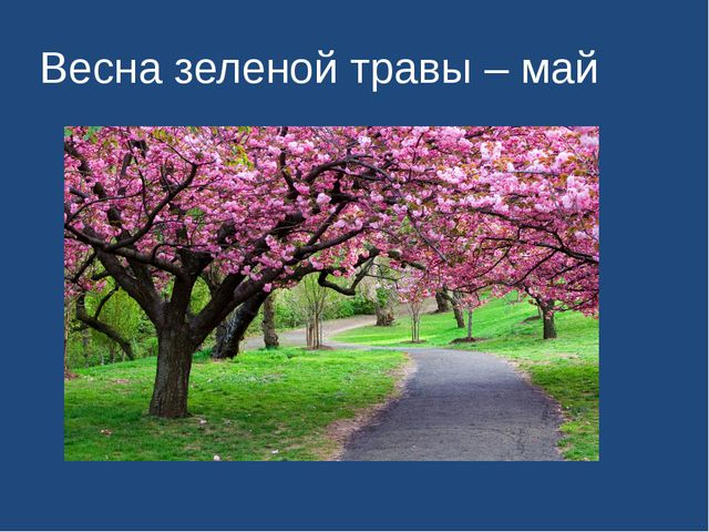 Весна зеленой травы – май