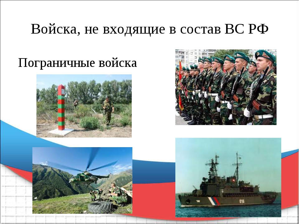 Войска, не входящие в состав ВС РФ Пограничные войска
