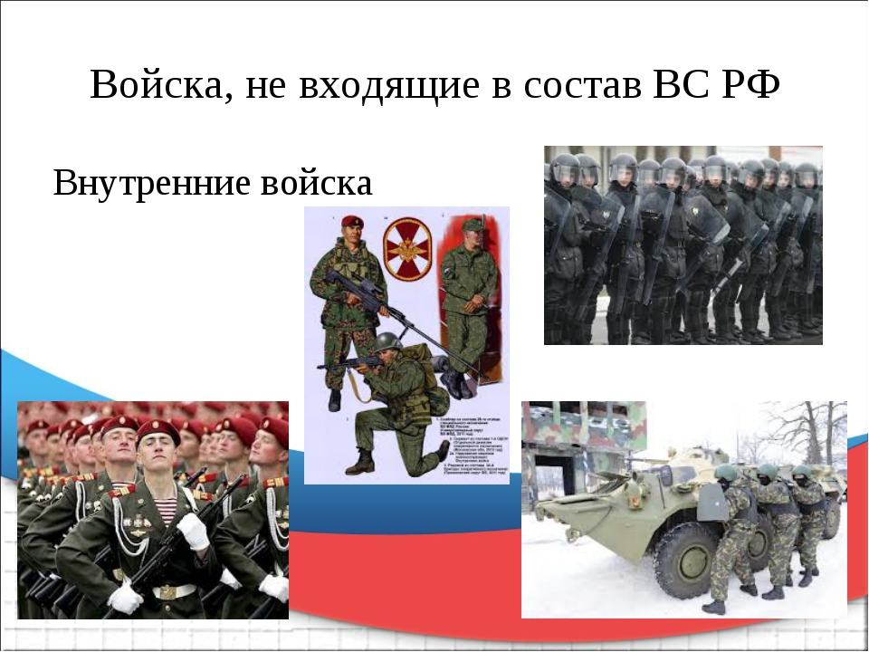 Войска, не входящие в состав ВС РФ Внутренние войска