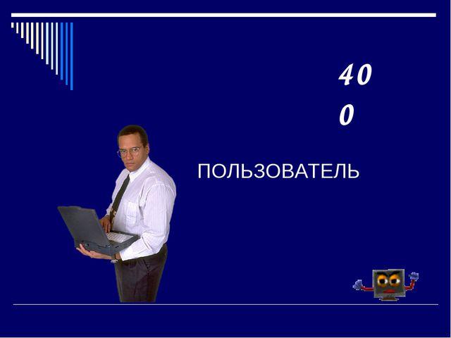 ПОЛЬЗОВАТЕЛЬ 400