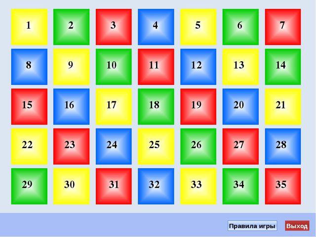 Начать игру 1. Выбери ячейку с номером и щёлкни по ней мышкой. 2. Прочитай во...