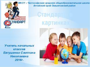 Стандарты в картинках Учитель начальных классов Евтушенко Светлана Николаевна