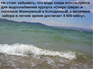 Не стоит забывать, что вода озера используется для водоснабжения курорта «Озе