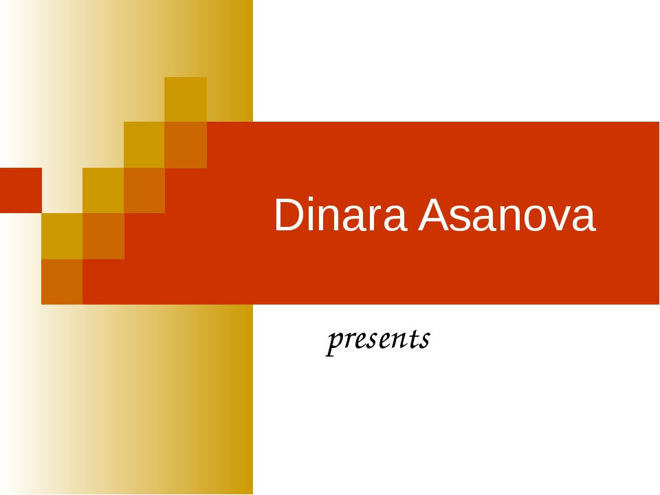 Dinara Asanova presents