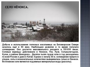 Добыча и использование полезных ископаемых на Беломорском Севере началось ещ