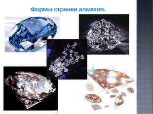 Формы огранки алмазов.