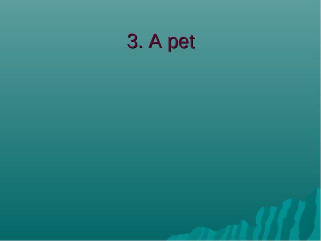 3. A pet