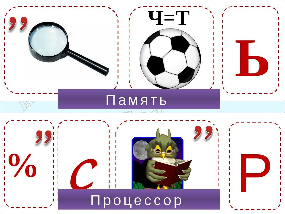 Р % Ч=Т Память Ь С Процессор