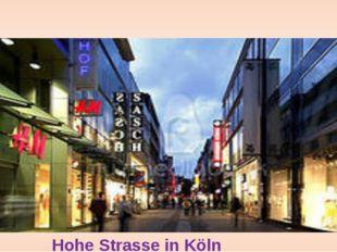 HoheStrasse in Köln