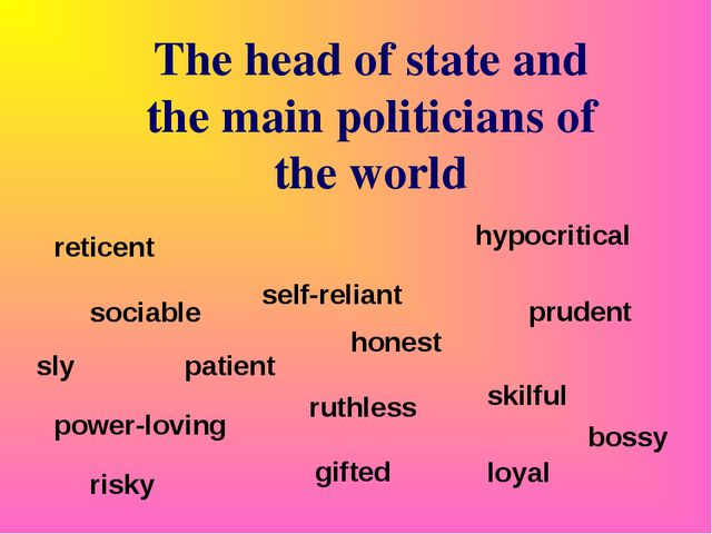 The head of state and the main politicians of the world sociable patient hone...