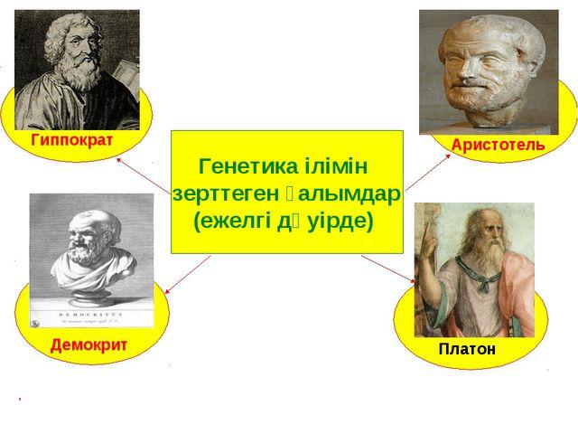 Генетика ілімін зерттеген ғалымдар (ежелгі дәуірде) Гиппократ