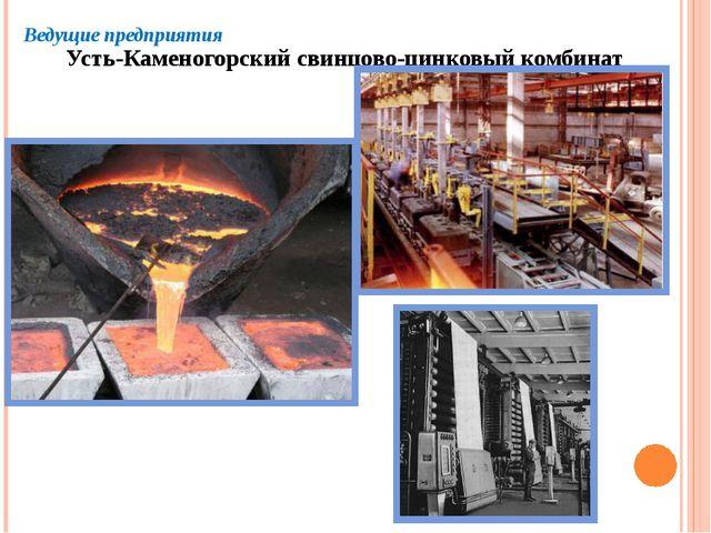 Ведущие предприятия Усть-Каменогорский свинцово-цинковый комбинат