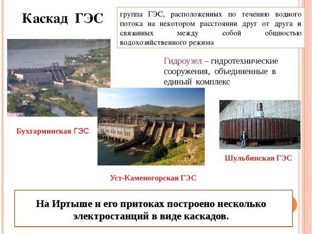 группа ГЭС, расположенных по течению водного потока на некотором расстоянии...