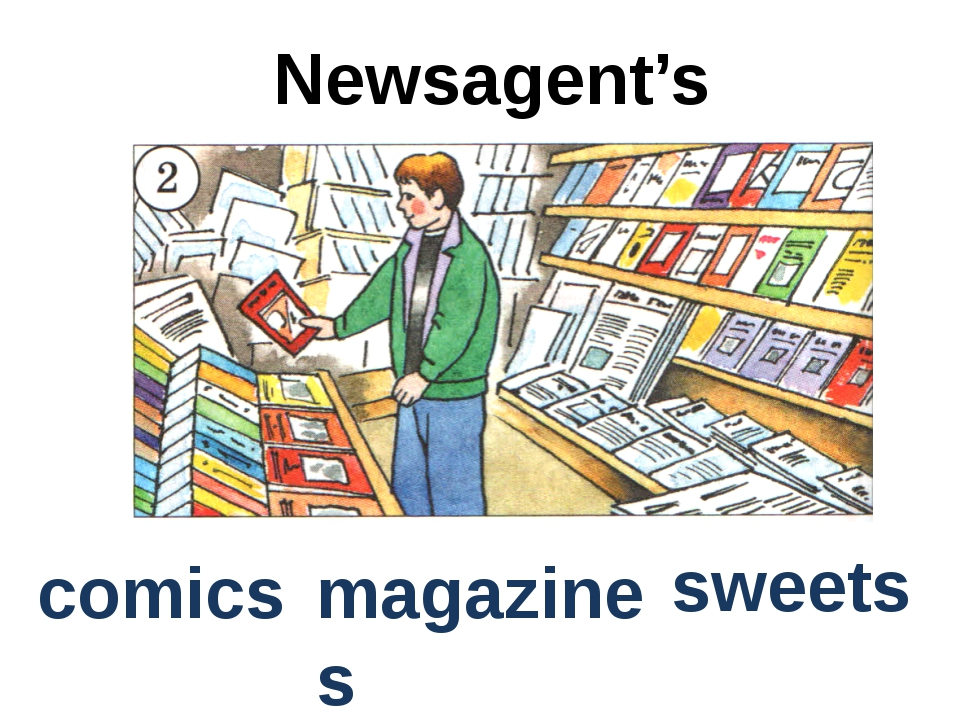 Newsagent's sweets comics magazines