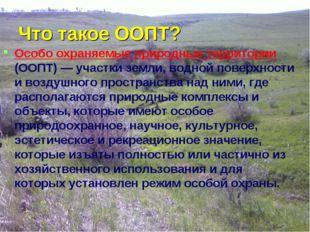 Что такое ООПТ? Особо охраняемые природные территории (ООПТ) — участки земли,