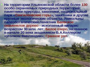 На территории Ульяновской области более 130 особо охраняемых природных террит