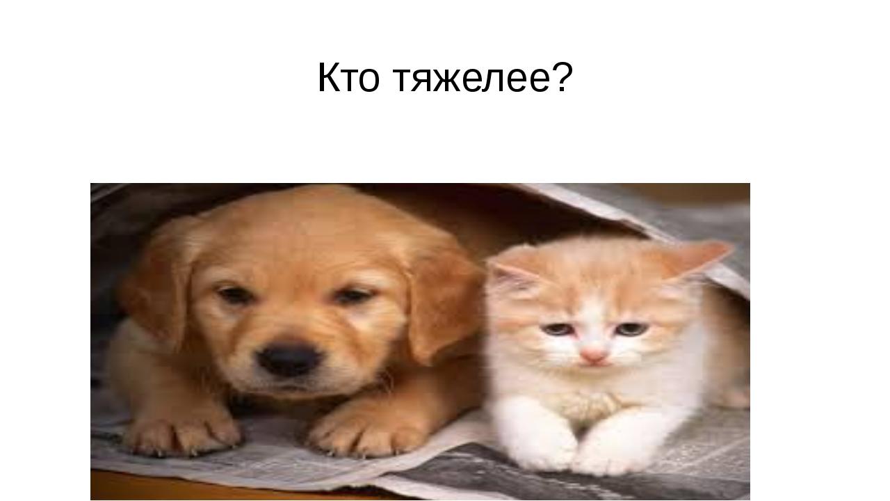Кто тяжелее?
