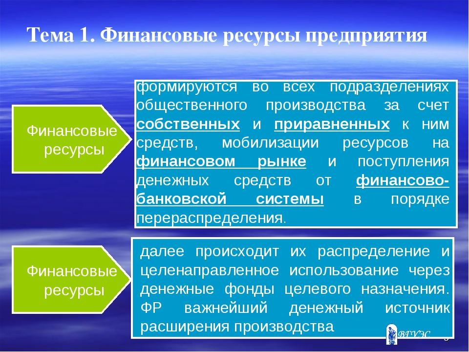 Презентация Финансовые ресурсы предприятия слайда 5 Финансовые ресурсы Финансовые ресурсы формируются во всех подразделениях об