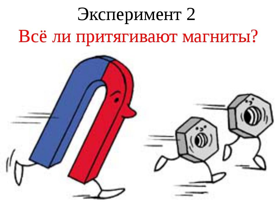 Эксперимент 2 Всё ли притягивают магниты?
