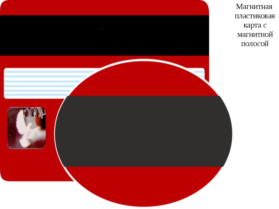 Магнитная пластиковая карта с магнитной полосой