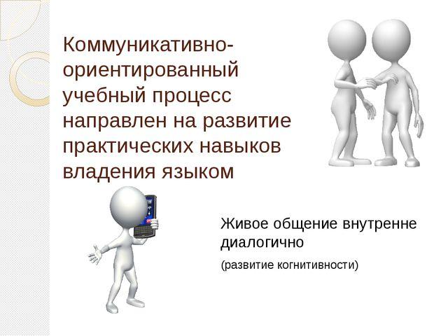 Коммуникативно-ориентированный учебный процесс направлен на развитие практиче...