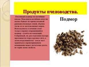 Продукты пчеловодства. Пчелиный подмор-это погибшие пчелы. Максимум погибших