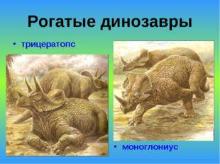 Рогатые динозавры трицератопс моноглониус
