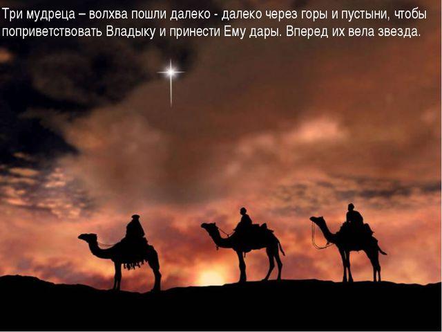 Три мудреца – волхва пошли далеко - далеко через горы и пустыни, чтобы поприв...