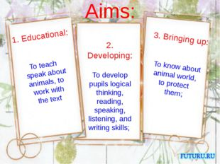 2. Developing: To develop pupils logical thinking, reading, speaking, listen