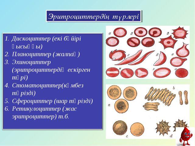 Эритроциттердің түрлері