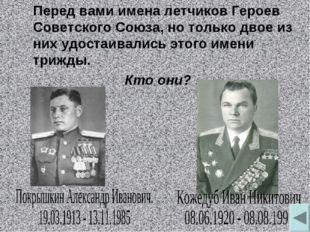 Перед вами имена летчиков Героев Советского Союза, но только двое из них удо