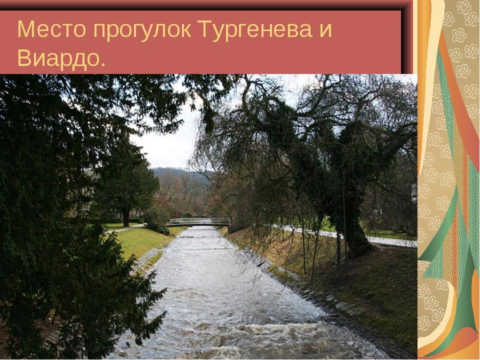 Место прогулок Тургенева и Виардо.