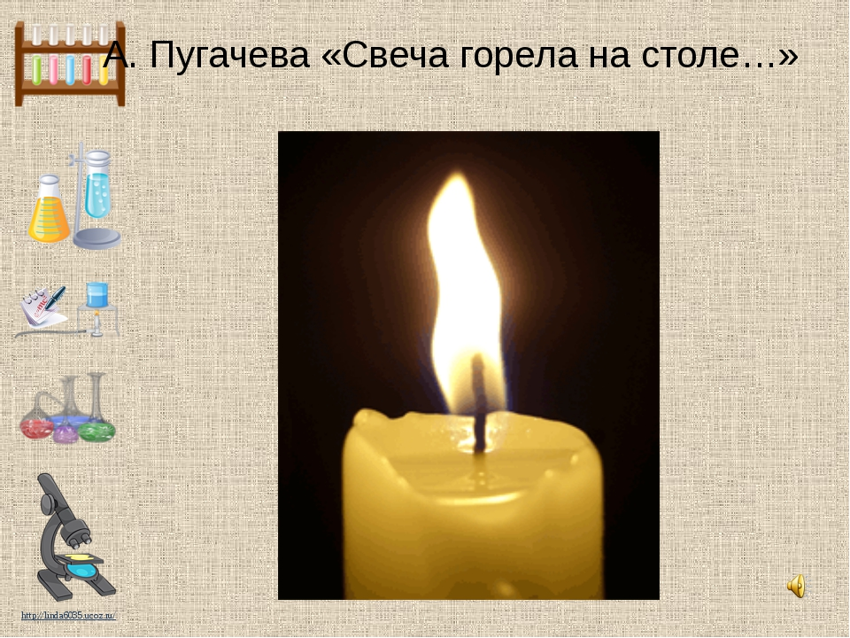 А. Пугачева «Свеча горела на столе…» http://linda6035.ucoz.ru/