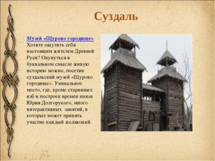 Музей «Щурово городище» Хотите ощутить себя настоящим жителем Древней Руси? О