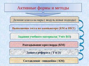 Активные формы и методы Деление класса на пары ( модуль новые подходы) Задани