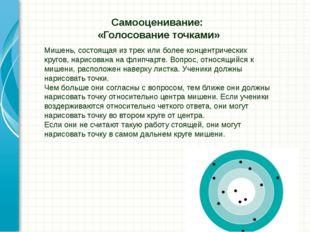 Мишень, состоящая из трех или более концентрических кругов, нарисована на фли