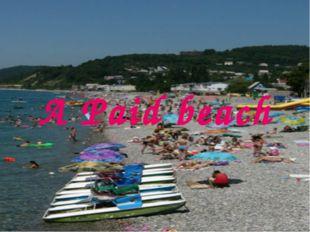 A Paid beach