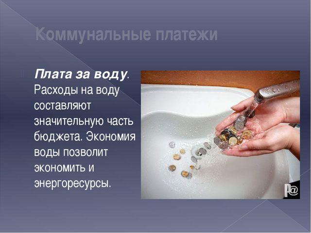 Плата за воду. Расходы на воду составляют значительную часть бюджета. Экономи...