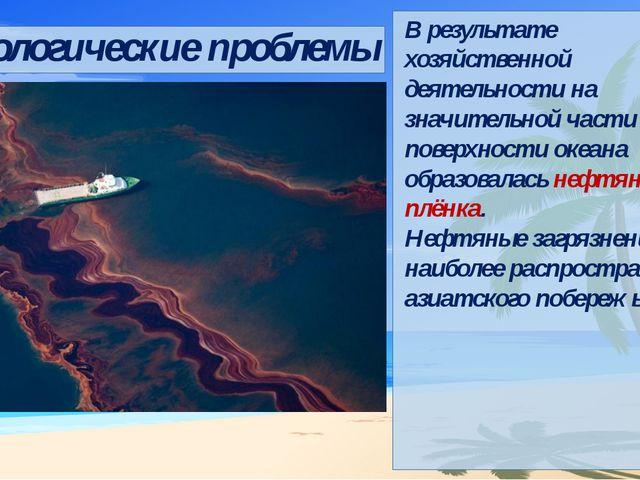 Экологические проблемы В результате хозяйственной деятельности на значительн...