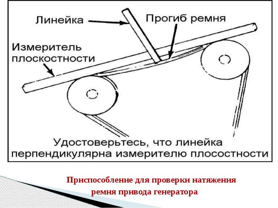 Приспособление для проверки натяжения ремня привода генератора