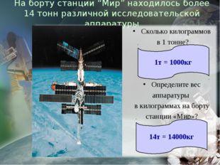 """На борту станции """"Мир"""" находилось более 14 тонн различной исследовательской а"""