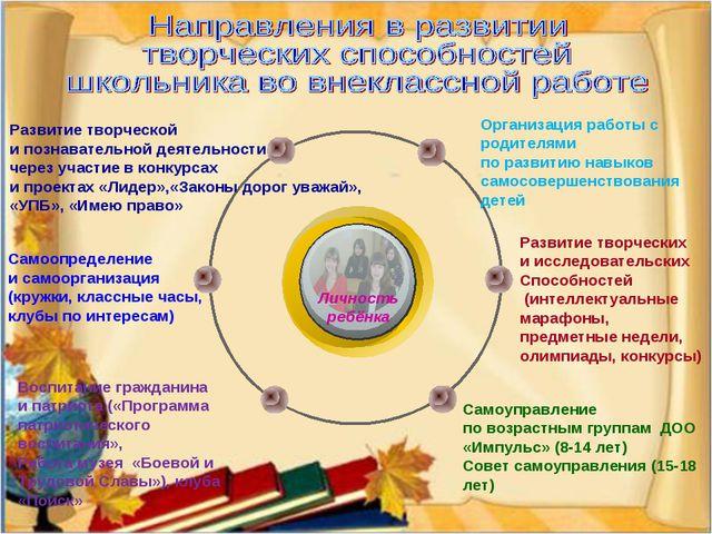 Личность ребёнка Организация работы с родителями по развитию навыков самосове...