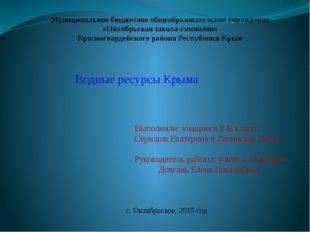 Муниципальное бюджетное общеобразовательное учреждение «Октябрьская школа-ги