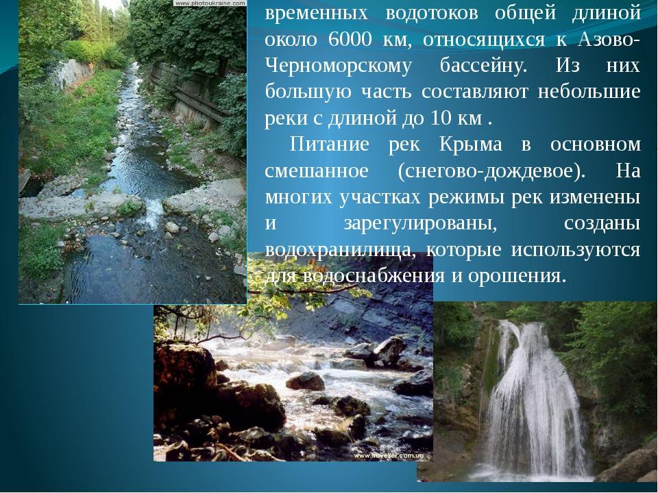Реки Крыма В Крыму насчитывается 1657 рек и временных водотоков общей длиной...