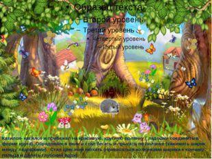 Катился- катился и прибежал на красивую, круглую полянку ( ладошки соединить