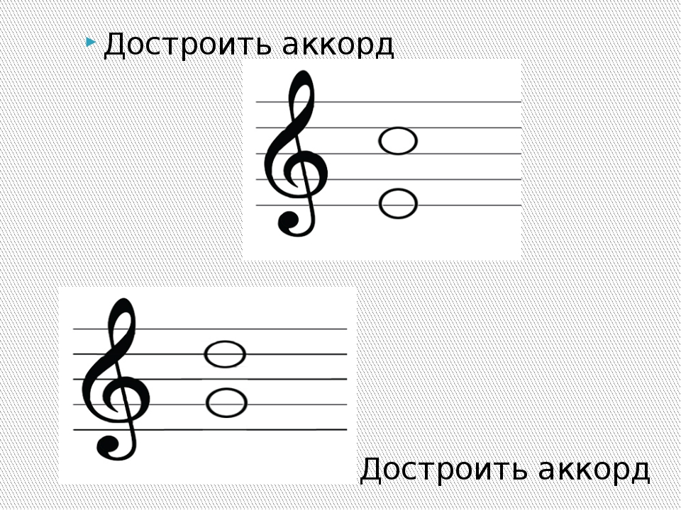 Достроить аккорд Достроить аккорд
