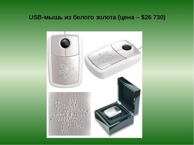USB-мышь из белого золота (цена – $26730)