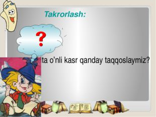 Takrorlash: