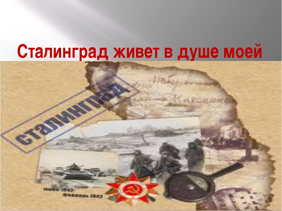 Сталинград живет в душе моей