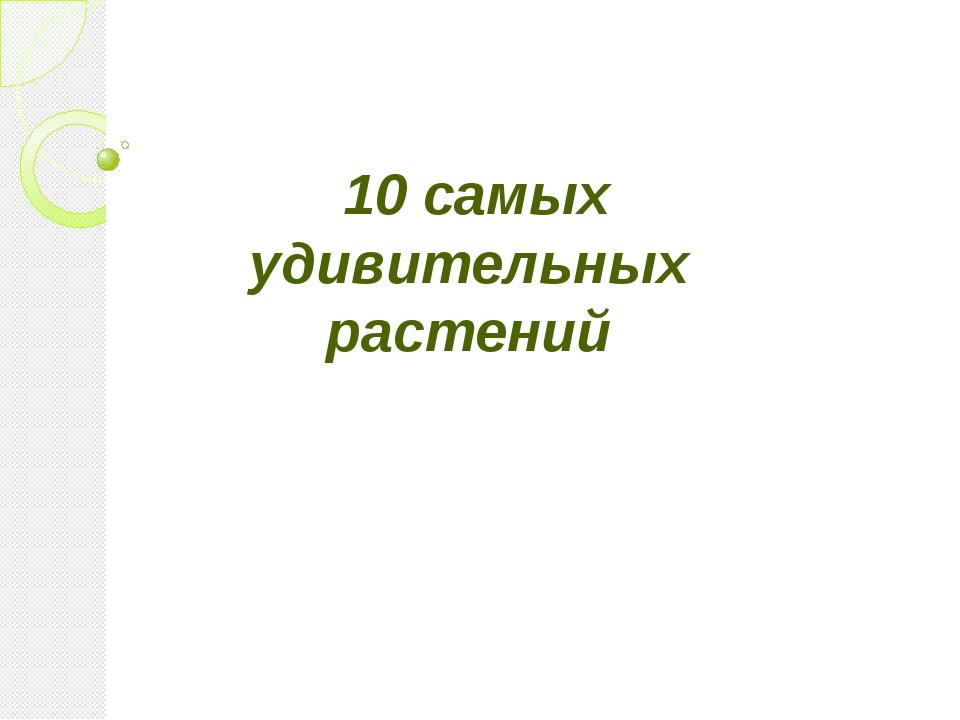 10 самых удивительных растений